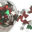 クリスマスのホログラムデザインミックスもみの木クリスタルサンタのブーツキャンディーステッキレジン封入パーツ