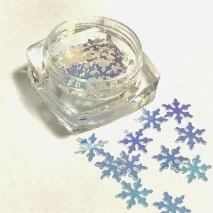クリスタルのホログラムYクリアオーロラレジン封入雪の結晶パリパリパーツハンドメイド