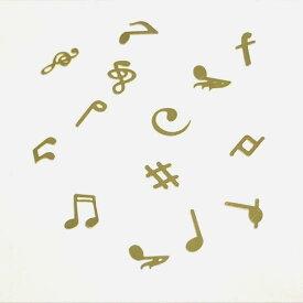 (10枚セット)音楽のメタルパーツ 連符 音符 ト音記号 楽譜 シャープ ミュージック レジン封入 ゴールド 両面 ランダム