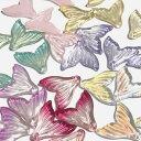 (7個セット)人魚の尾のガラスチャーム マーメイド ファンタジー ビーズ グラデーション カラーミックス パーツ ハン…