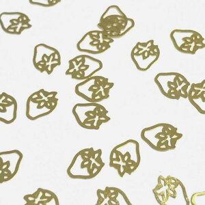 (10枚セット)苺のメタルパーツ イチゴ 果物 ゴールド フルーツ ストロベリー レジン封入 ハンドメイド