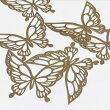 蝶のメタルチャーム蝶々チョウバタフライピンクゴールドパーツハンドメイド