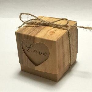 (3組入り)ギフトボックス 麻紐付き ウッド風 組立式 アクセサリー 小物 プレゼント用 ハート 箱 ラッピング