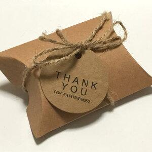 (3組入り)ギフトケース ピローケース タグ・麻紐付き アクセサリー 小物 ホワイトデー プレゼント用 ボックス ラッピング