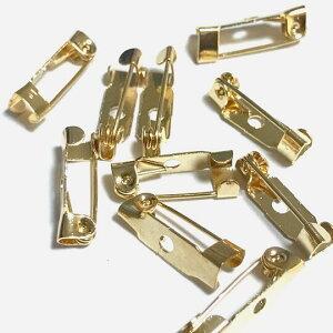 (7個セット)コサージュピン 15mm 金具 留め具 ライトゴールド ブローチピン アクセサリーパーツ ハンドメイド