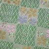 最高級貝特班車,床扔掉(桌子賽跑者)防火墊子經過桌子賒帳鋪設(200*60cm)金線錦緞高級品的日本製造的1種櫻花格子綠