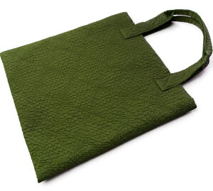 ハンドバック、トートバックの蛇柄風生地を利用。縁起も良く一味違ったバック26×25cm(金封ふくさ、数珠入利用時)