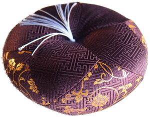 りん布団 国産 木魚用の リン 座布団 各サイズ (5号丸型15cm, 唸紫)