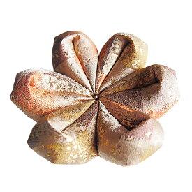 りん布団 雅白茶 国産 花型 おりん用の布団 リン座布団 雅白茶(15号 直径45cm)