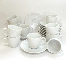コーヒーカップソーサー 10客セット 白 ホテル ベーシックコーヒーカップ 白 陶器 業務用 美濃焼 通販