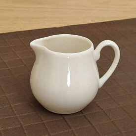 ミルクピッチャー 110cc 3人用 ニューボンミルクポット ピッチャー シロップ入れ おしゃれ シンプル カフェ 食器 クリーマー 陶器 業務用 日本製 美濃焼