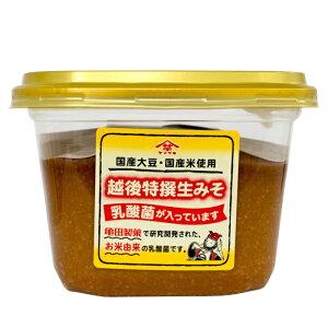 【送料無料】越後特選生みそ 600g×6個乳酸菌入り 国産大豆 国産米味噌 みそ 調味料こし味噌 新潟 ヤマサキ