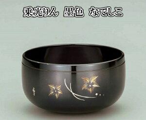 【送料無料】 【乗光りん 墨色 なでしこ 3.5寸】仏壇 仏具 りん おりん リン 錫 彫刻 彫金 鏨