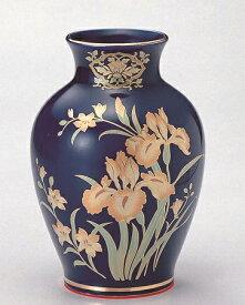 【夏目花瓶 ルリアイリス 8号】1本 仏壇 仏具 陶器 花瓶