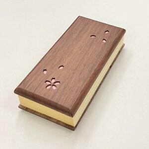 木製過去帳 さくら 日付入 3.5寸ウォールナット