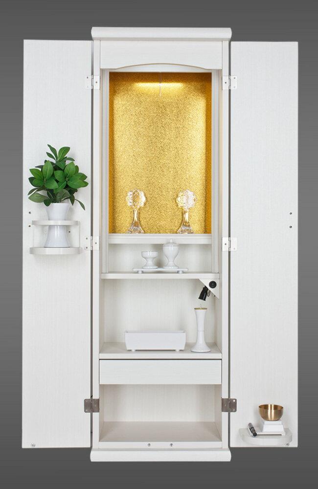 ◆創価学会 仏壇 家具調 スマート ホワイト 木目調