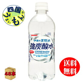 炭酸水 日本サンガリア 伊賀の天然水 強炭酸水 (500mlペットボトル×24本)2ケース(48本) 飲料
