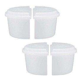 ふた付き製氷カップ ハーフサイズ DTYシリーズ 2セット4個入り とろ雪 ハーフカップ かき氷【21S2】