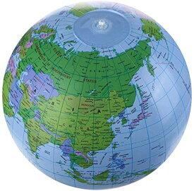 ビーチボール地球儀 世界地図 知力育て&お洒落なおもちゃ 英語併記付きの地球風船/バルーン グローブボール 空気入れのおもちゃ 撮