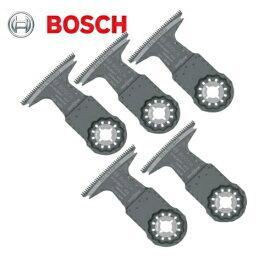 ボッシュ(マキタ・日立製工具にも使用可能) マルチツール用ブレード(スターロック)(5枚セット) AII65BSPC/5(木材用)(刃幅:65mm 刃長:40mm)(炭素工具鋼製、広い開口・高速切断用)