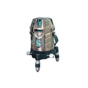 テクノ販売 LST-YG97X フルライン電子整準グリーンレーザー墨出し器 (縦4方向矩・横全周水平ライン・地墨・鉛直十字)