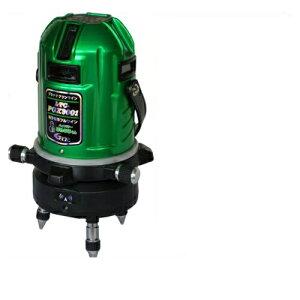 テクノ販売 フルライン電子整準プラチナグリーンレーザー墨出し器 LTC-PGX9001 + スマートベース(自動追尾機能)SB-G(受光器・三脚付) ◆