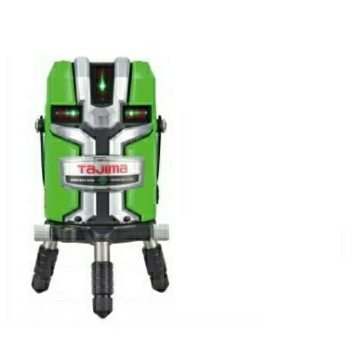 【TJMデザイン】タジマツール フルライン電子整準スタンダードグリーンレーザー墨出し器(センサー方式) ZEROGS-KJC(縦4方向矩・横全周水平ライン・地墨・鉛直十字)