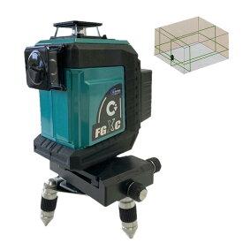 テクノ販売 フルライン電子整準グリーンレーザー墨出し器 LTK-FGX3C(三脚・受光器別売) ◆