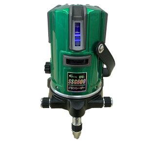 テクノ販売 [2019年モデル]グリーンレーザー墨出し器 LTC-SSG600(縦4方向矩・横120°水平ライン・地墨・鉛直十字) ◆