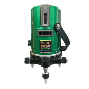テクノ販売 [2019年モデル]グリーンレーザー墨出し器 LTC-SSG300(縦・横120°水平ライン・地墨) ◆