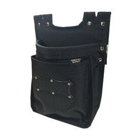 KNICKS ニックス BA-201BB 2段腰袋 バリスティック生地 全天候型 オールブラックタイプ ◆