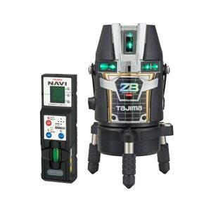 タジマデザイン フルラインブルーグリーンレーザー墨出し器(自動追尾NAVI搭載) ZEROBLN-KJC(矩十字・横全周)(リチウム電池タイプ)