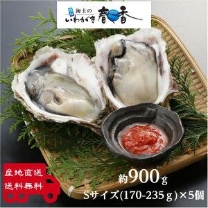【送料無料】いわがき春香Sサイズ5個セット 約 900g 生食 岩ガキ 岩がき 岩牡蛎 牡蠣 牡蛎 生牡蠣 生牡蛎 冷凍 殻付き 産地直送 旬 ギフト 贈答用 御礼 お返し