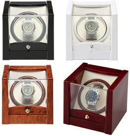ワインディングマシン時計巻上  全4色 ウォッチワインダー KA079 自動巻きの腕時計に 自動巻き上げ機 ビッグフェイス対応 送料無料 ギフト プレゼント 【あす楽】