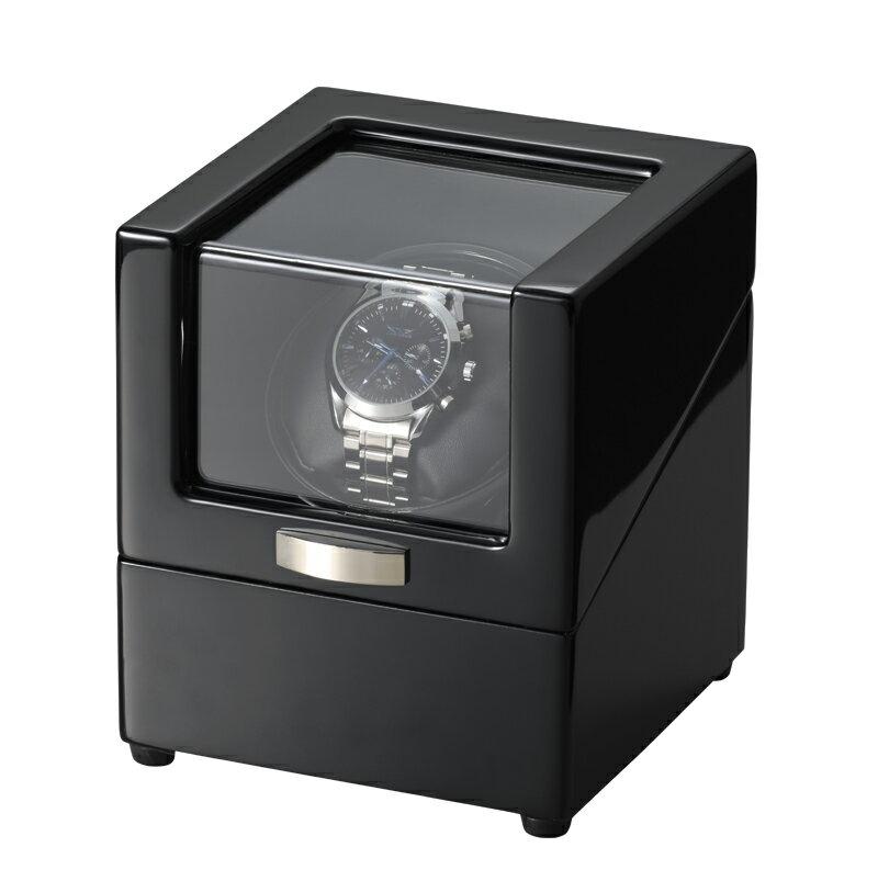 木製ワインディングマシーン 1本巻 2電源対応 マブチモーター搭載 ウォッチワインダー JelPhy WW-1219BL 自動巻き時計に 自動巻き上げ機 腕時計【あす楽】