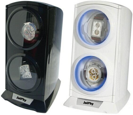 LED搭載ムーンライトツインワインディングマシーン 2連式 自動巻 ウォッチワインダーKA015【あす楽】送料無料