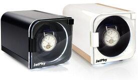 Jelphy ワインディングマシーン LED搭載 12パターンの回転モード マブチモーター 自動巻き 時計 1本巻 KA101 送料無料【あす楽】