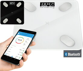 スマホ連動 体組成計 体重計 Bluetooth スマートスキャン 体脂肪 筋肉量 健康管理 HAC2305 送料無料