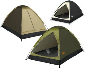 2人用ドームテント 組立式 キャンプ ツーリングテント アウトドア HAC 送料無料