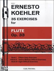楽譜 WL758 輸入 ケーラー/フルートのための35の練習曲 Op.33 第2巻 / ロケットミュージック