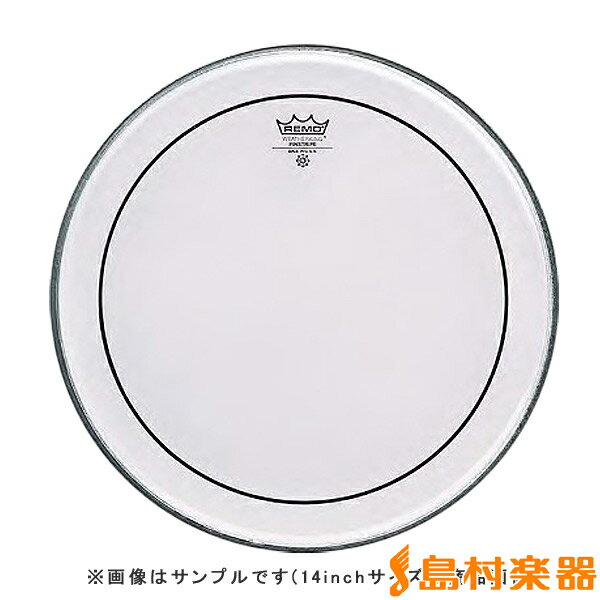 REMO PS320BB PINSTRIPE ドラムヘッド ピンストライプ 【20インチ】 【レモ】