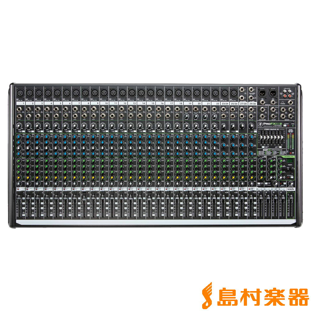 MACKIE ProFX30v2 30チャンネルプロフェッショナルエフェクターUSB I/O内蔵ミキサー 【マッキー】