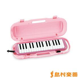 SUZUKI MXA-32P (ピンク) 【小学校推奨アルト32鍵盤】 【唄口・ホース付】 【ハードケース付】 メロディオン 鍵盤ハーモニカ 【スズキ MXA32P】