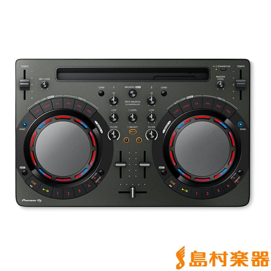 Pioneer DDJ-WeGO4-K (ブラック) DJコントローラー 【パイオニア DDJWeGO4K】