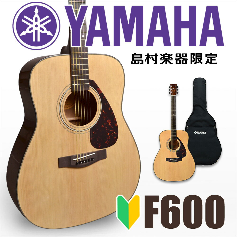 YAMAHA F600 アコースティックギター 初心者 入門モデル 【ヤマハ】【島村楽器限定販売】