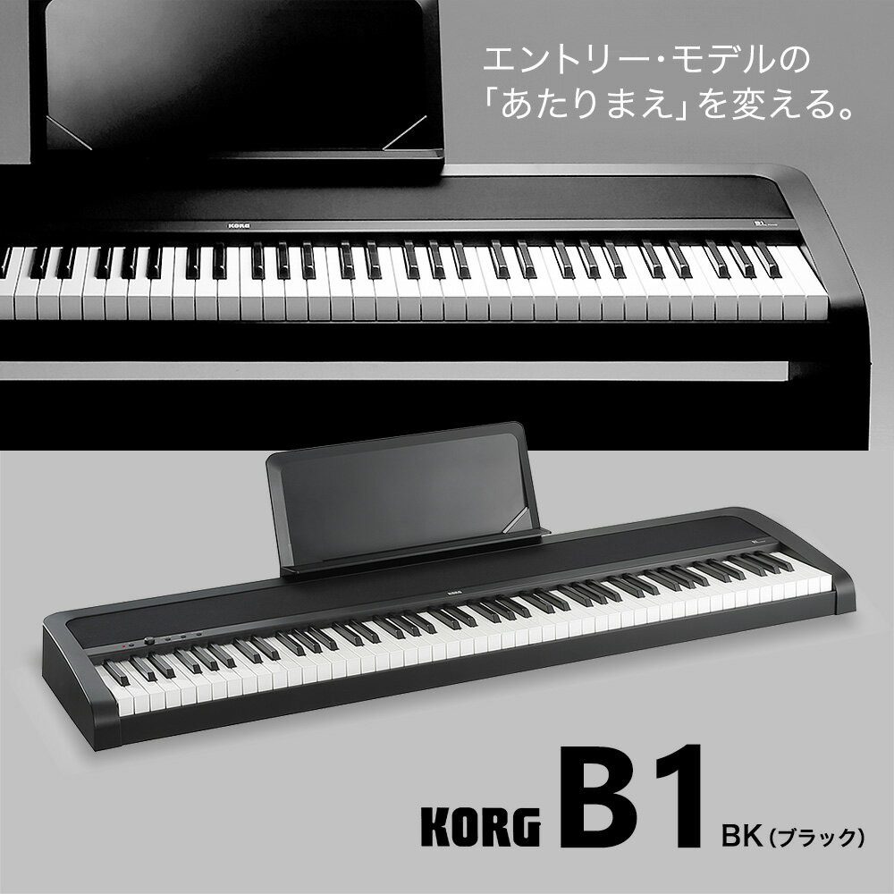 KORG B1 BK(ブラック) 電子ピアノ 88鍵盤 【コルグ】【別売り延長保証対応プラン:E】