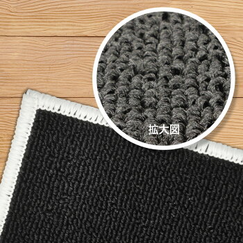 EMULCPT105M電子ピアノ用防音マットミルキーブラックカラー【エミュール遮音防振カーペット】