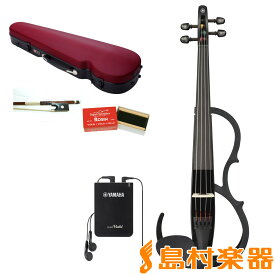 YAMAHA YSV104S BL ブラック サイレントバイオリンセット 【弓・ハードケース・松脂 付属】 【ヤマハ SILENT Violin】