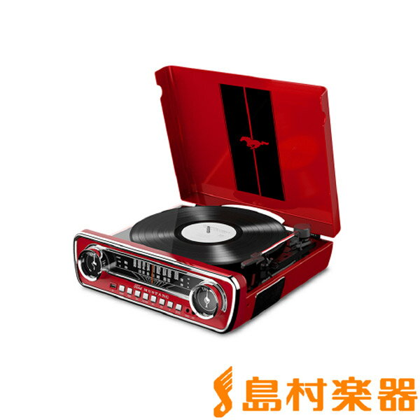 ION AUDIO Mustang LP RED(レッド) USBレコードプレーヤー 【アイオンオーディオ】