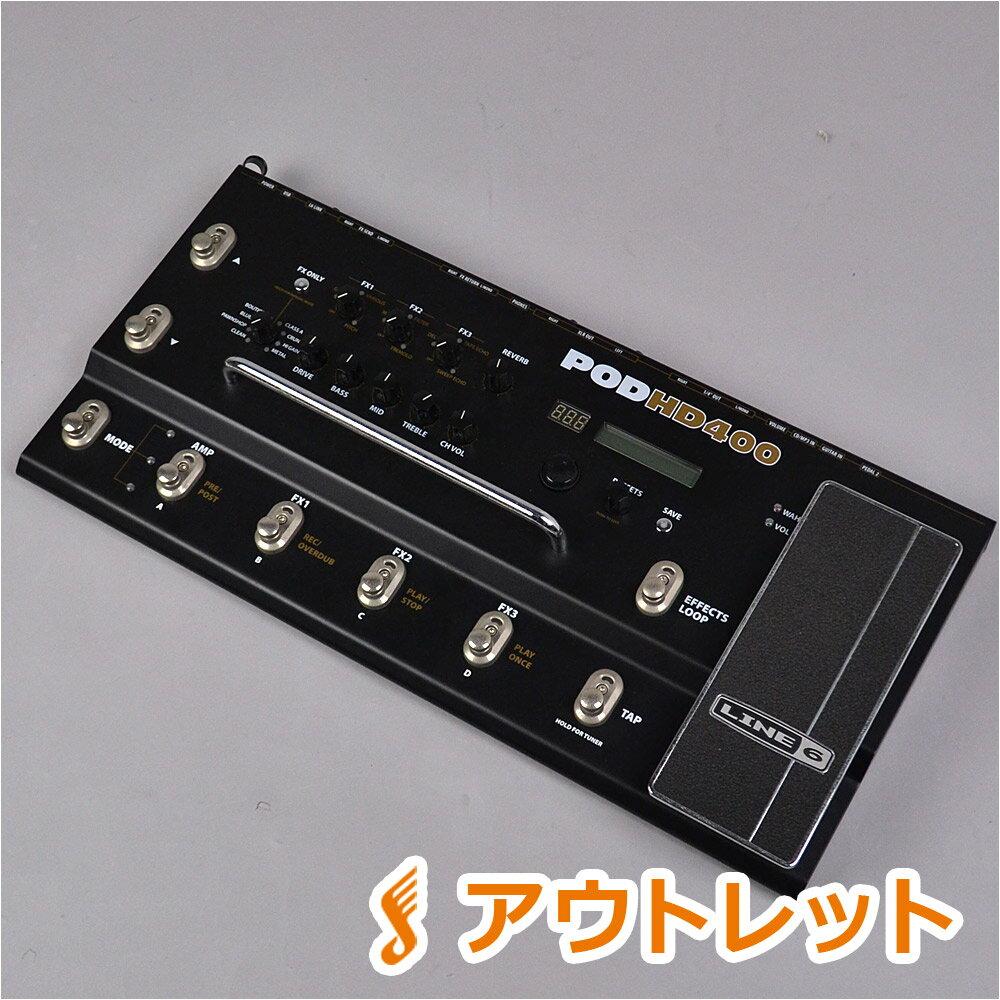 LINE6 POD HD400 アンプシミュレーター 【 ライン6 生産完了モデル】【りんくうプレミアムアウトレット店】【アウトレット】